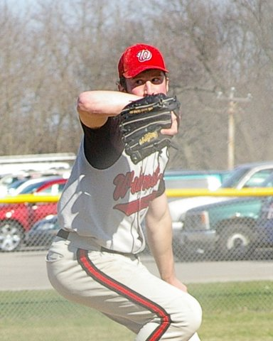 Wilmot's Quincey Berg eyeing the target in the Panther's 5-4 win. Dave Thoss photo