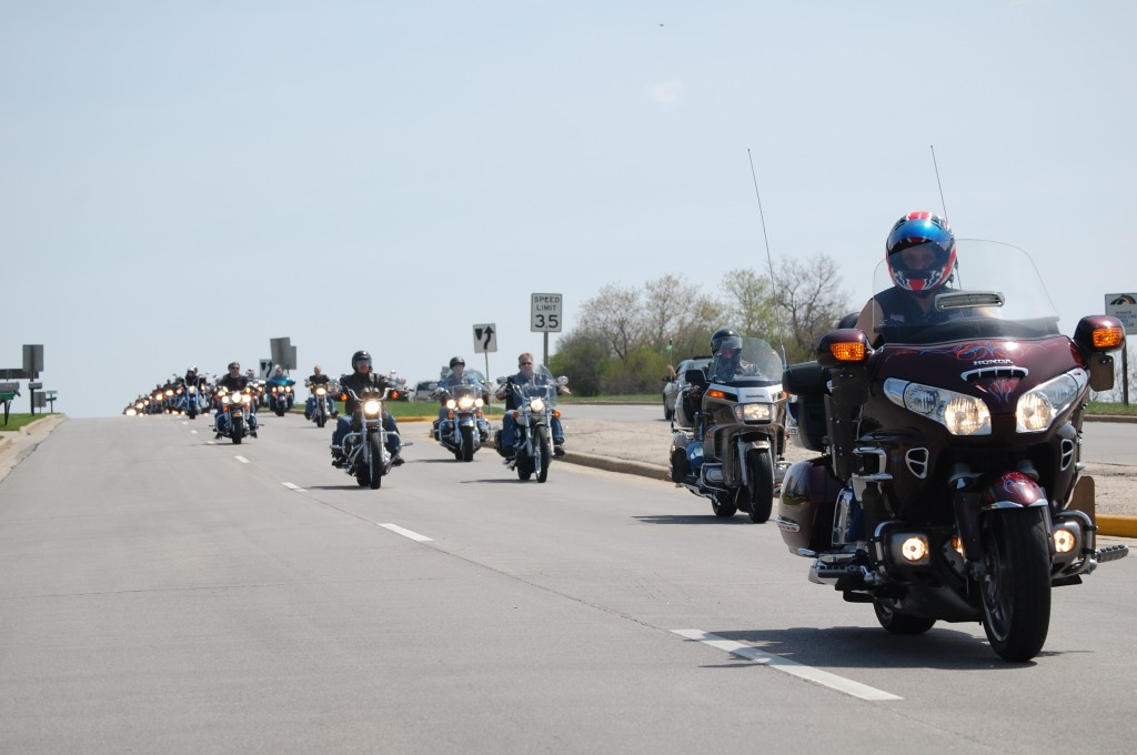 There were a sprinkling of non-Harley bikes in the group.