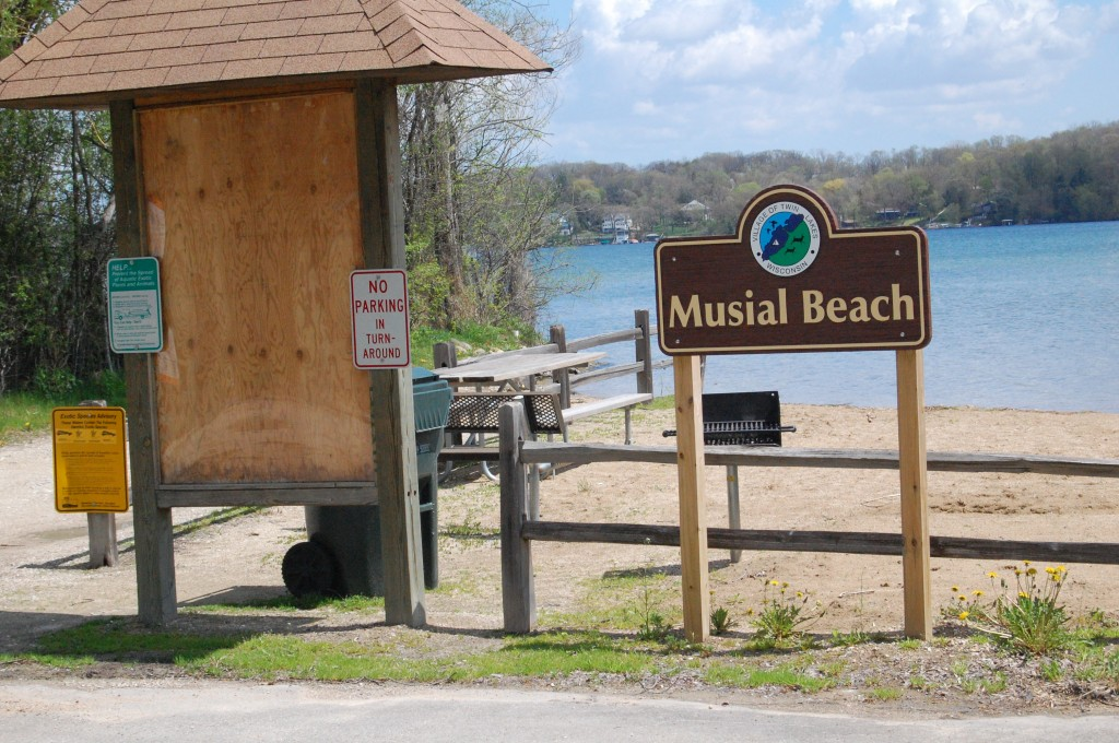 A fee box will be added to the landscape at the Musial Beach launch. The Twin Lakes Village Board decdied Monday to begin charging the standard launch fees for the Musial site.