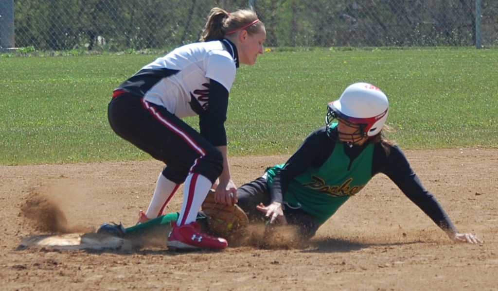Out at second.