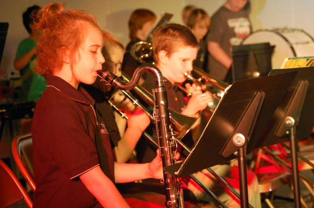"""Members of the Intermediate Band play """"Spitfire."""""""