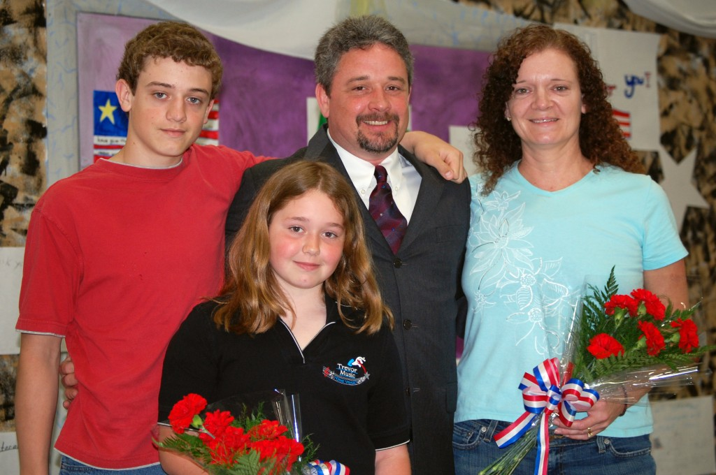 Special Guest Brian Crowder poses with his family. From left are; Corey Crowder, Caitlyn Crowder, Brian Crowder and Christine Crowder.
