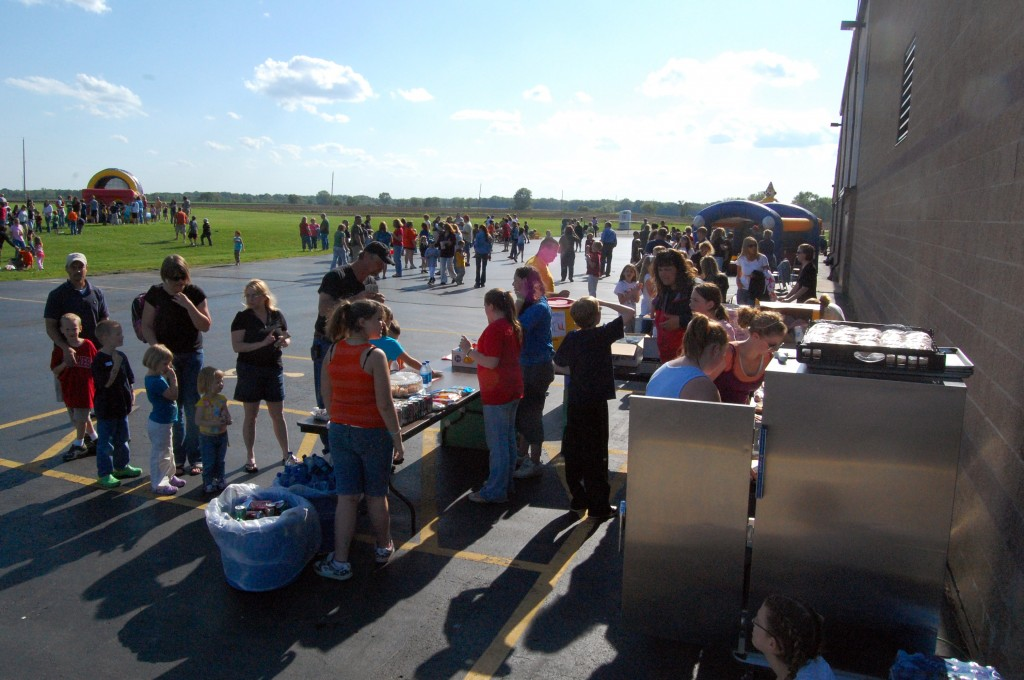 Plenty of community members took advantage of the nice evening weather to have fun at the Wheatland Center School Community Carnival.
