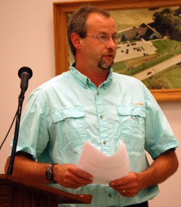 Resident Jeff Miller address Monday's Salem Town Board meeting about the need for regulating where convicted sex offenders can live.
