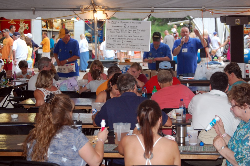 Many tried their luck at the Genoa City Lions' Club bingo tent.