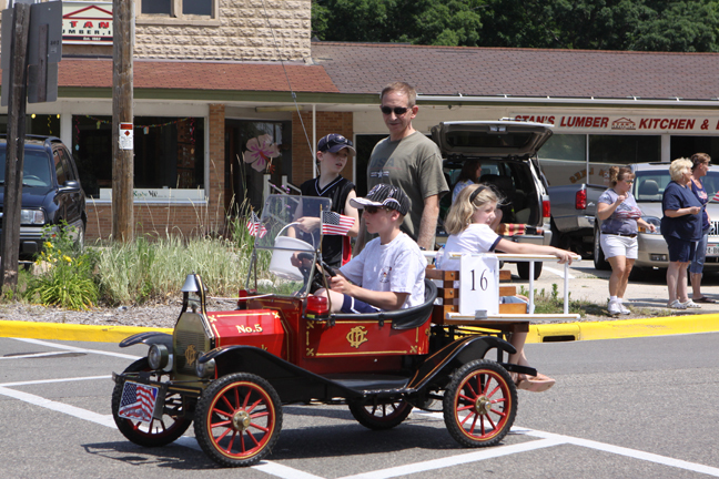 There were many fire trucks in the Libertyfest parade; this was the smallest. /Photo by Earlene Frederick