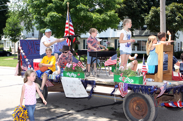 Local institutions like St. John and St. Alphonsus chruches were represented with parade entries.