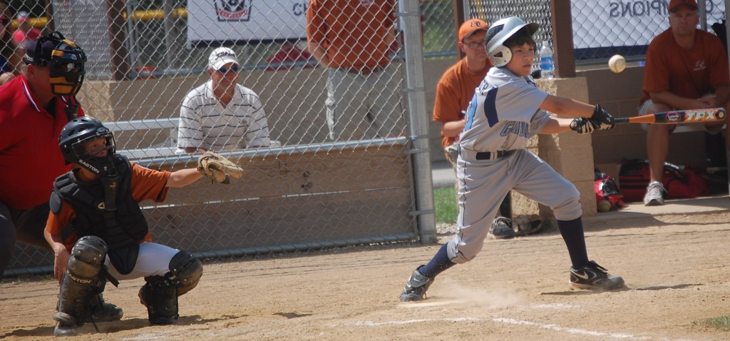 A Glendale batter connects. Glendale beat Eau Clare 8 to 2 Saturday.