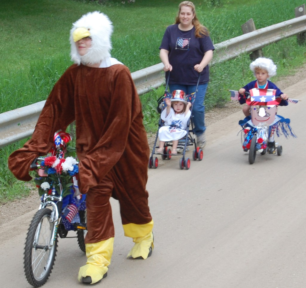 These cyclers really for into the spirit of the holiday.
