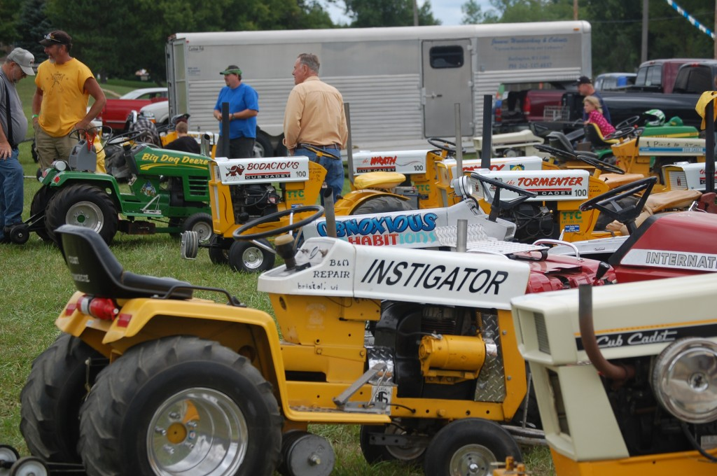 It seems like many people who have a garden tractor for pulling competitions give it an intimidating name.