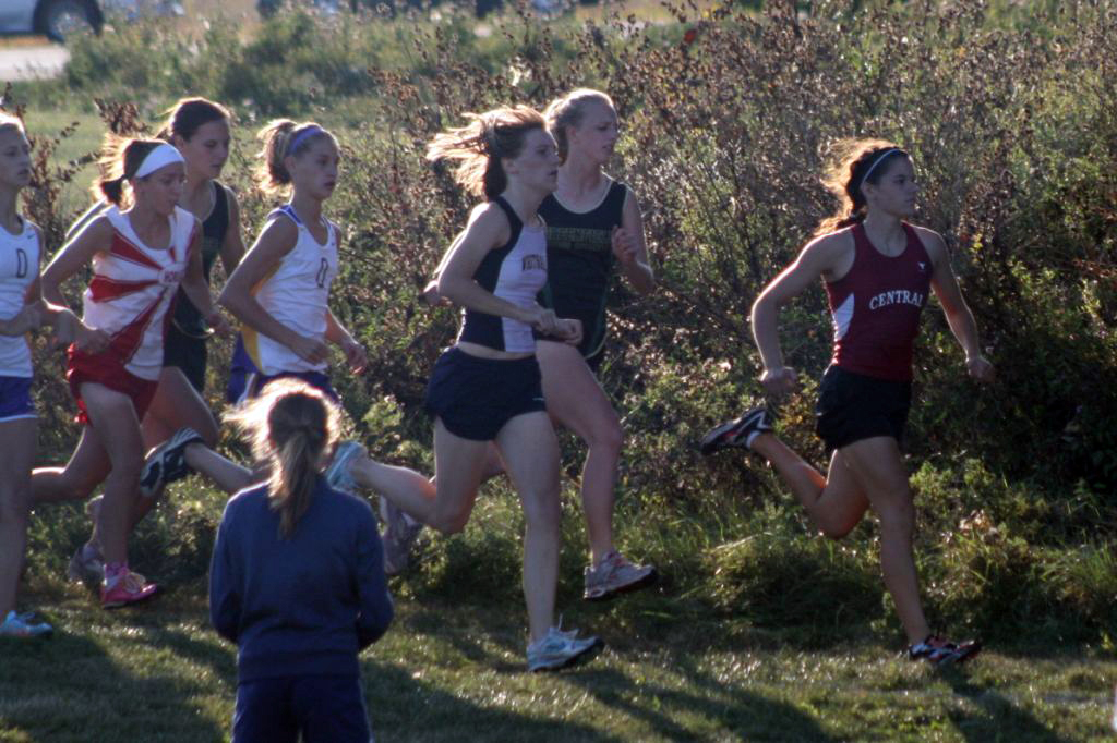 Hannah Andrekus, at fifth, was the top girls finisher for Central.