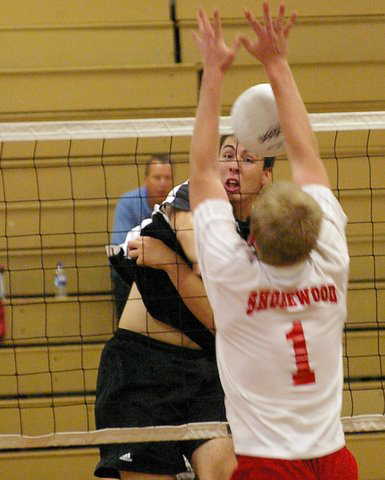 Matt Feivor puts another point on the board for the Falcons./David Thoss photo