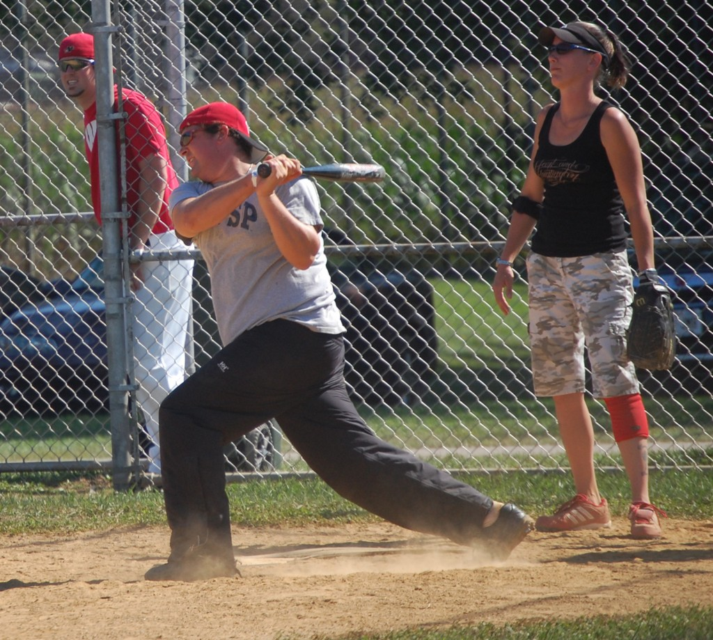 A Red Dogs batter conects.