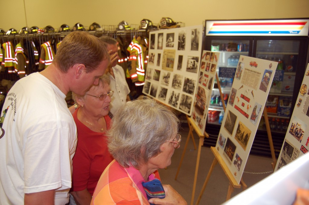 The 80-year history of the department was highlighted in a display at the fish fry/boil.