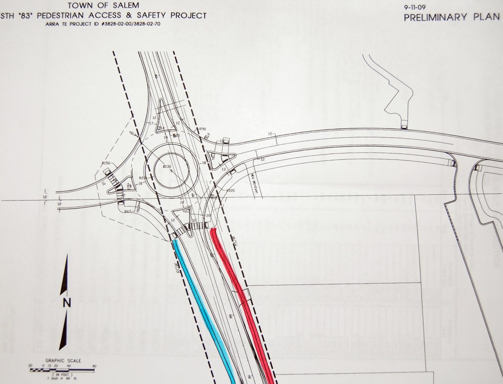 This is a preliminary plan for how a roundabout could look at the entrance/exit to Central High School that the school district would like to build on Highway 83, south of Highway 50.