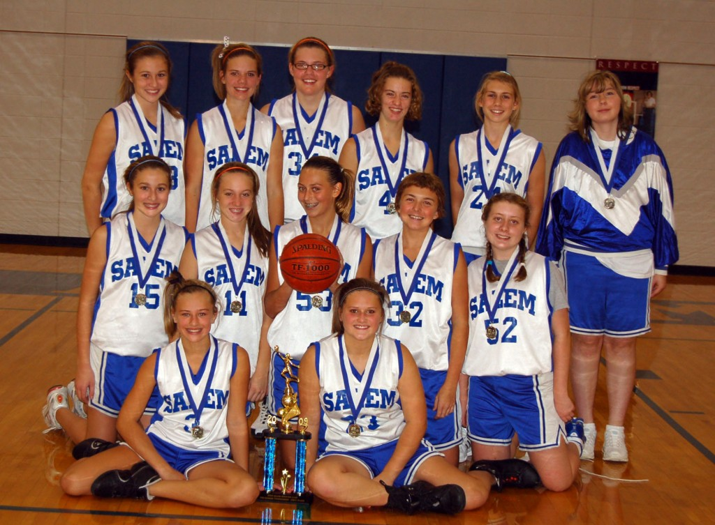 The tournament winning Salem team poses with their trophy./Submitted photo