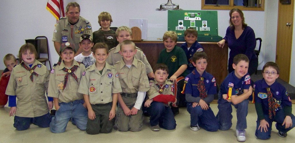 State Rep. Samantha Kerkman (right) recently met with Socuts at Paddock Lake Village Hall to help the youngsters earn a badge.