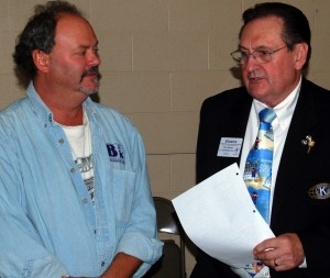 Steve Bluemel (left) is installed as vice president by Lt. Governor Ron