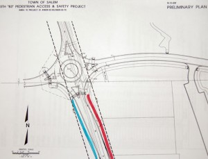 This is a draft design for a roundabout prepared for Central by one of the engineers on its construction project.