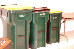 The possible new recycling containers for Silver Lake come in 99-, 65- and 35-gallon sizes.