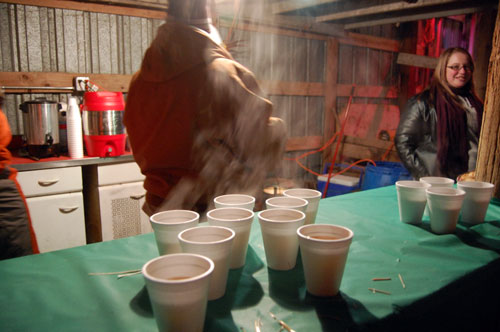 After the program, there's hot cider and hot chocolate to warm you before the trip home.
