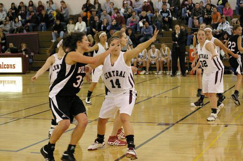 Central's Cassie Cox and Jackie Herman of Wilmot. /David Thoss photo