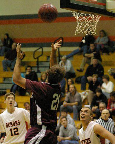 Johnny Wilson shoots against Burlington. /David Thoss photo
