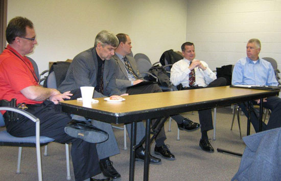 From left: Sheriff's Department representatives David Beth, Larry Apker, Bill Beth, Ken Wyker and Ed VanTine)