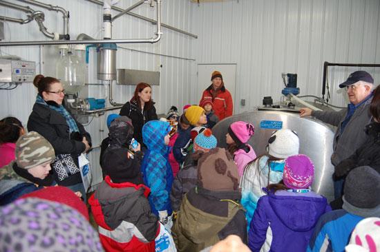 Insider the milk room at Weis-Way Farm.