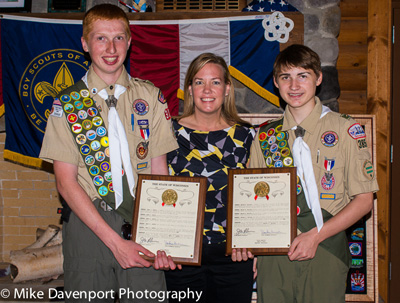 (from left) Ryan Laffin, Rep. Samantha Kerkman, and Adrian Arcoleo. /Contributed photo
