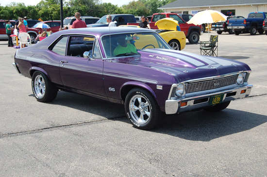 Tom b's 1968 Nova SS took Best of Show honors  in the Classic Car show.