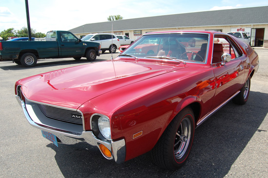 Fred and Kathy Hansen's  1968 AMC AMX took first runner up.