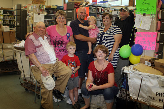Fran Kunkel and family members who attended the Thursday ceremony at the Salem Post Office.. /Earlene Frederick photo