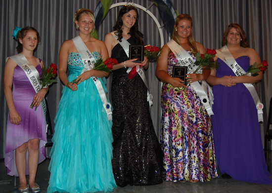 From left, Emily Olson, Miss Bristol 2013 Natalie LaForge, Samantha Nagle, Annika Nielsen and Mindi Richards.