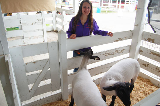 Mason Herolt and her grand champion pen.