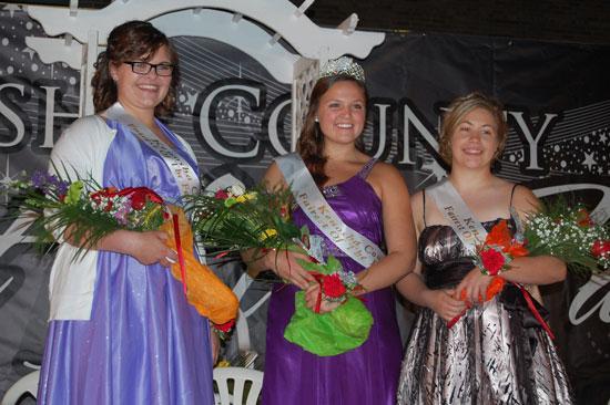 Kenosha County Fairest of the Fair Court (from left) Nicole Krokosz, Fairest of the  Fair Elizabeth Elfering and Katelyn Kreye.