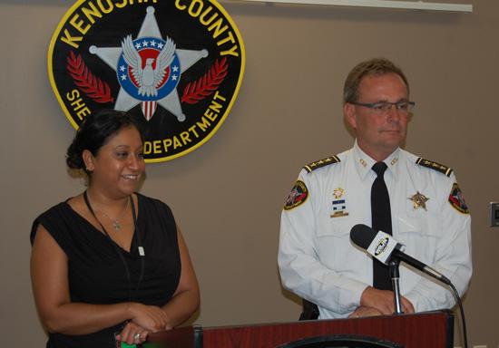 Aimee Janus and Sheriff David Beth.