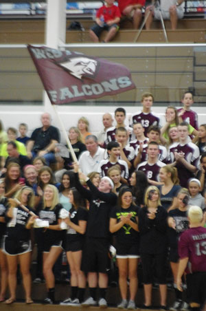 Falcon Student body making noise. /David Thoss photo