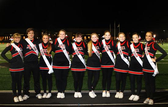 Senior Wilmot cheerleaders. /Earlene Frederick photo