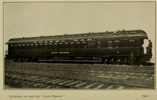 """The railroad chapel car """"Glad Tiding."""" /Submitted photo used with permission"""