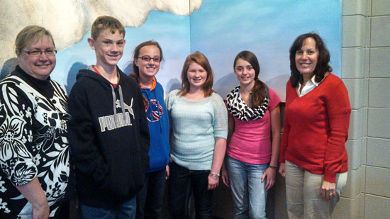 From left: Paula  Kildahl (Randall School), Jeremy Bruton, Kordan Kopp, Lauren Christensen, Katie Strother and Kori Kopp. /Submitted photo