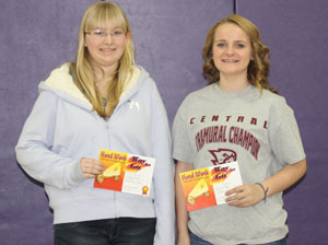 Eighth graders, Melanie Petges and Kelly Wolkober received awards for outstanding student achievement. /Submitted photo