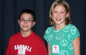 Quinn Adamek, runner-up, and Sydney Youra, Randall Winner. /Submitted photo