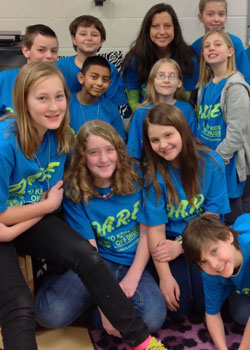 Salem Fifth Grade Teacher JoAnn Wilson and some of her fifth grade students proudly sport their new DARE T-Shirts. /Submitted photo