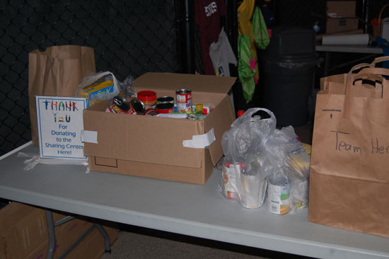 A collection for The Sharing Center was part of Rally for Life.
