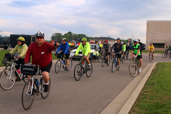 For some, the day started with a bike ride from Mars Cheese Castle to the breakfast with County Executive Jim Kreuser.  Over 80 riders participated.