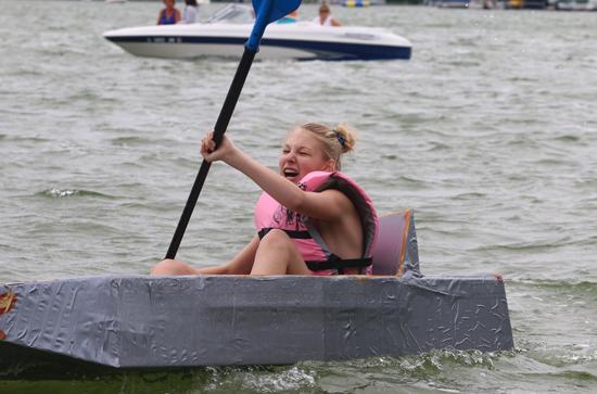 Emily Hershelman, 13 won her race.