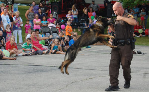A K9 demo from last summer's National Night Out in Twin Lakes.