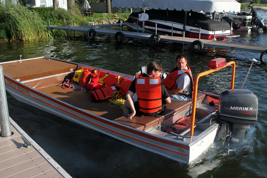 While rescue was getting the patients, Twin Lakes Fire went to check on the boat that sunk.