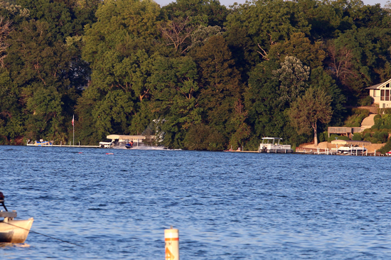 Buoys mark the spot where the boat is under water. The owners have five days to remove it.   /Earlene Frederick photo